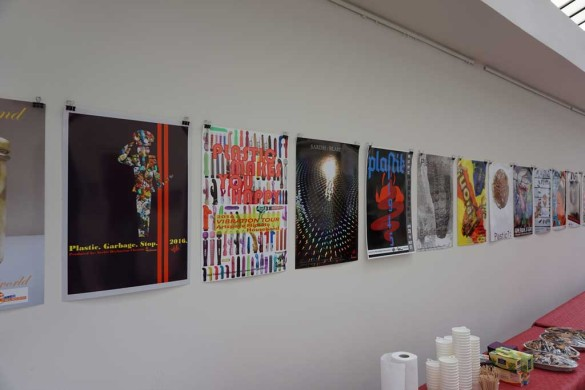 "Exhibition Poster Project ""Plastic All Over The World"" Gallery Treibhaus Dresden Photo by Serhii Hryhorian"